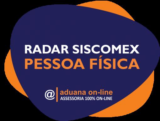 Aduana Online - Radar Pessoa Física