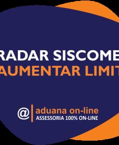 Aduana Online - Aumentar Limite RADAR